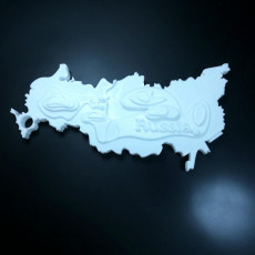 Picture of print of Geography of Russia with key chain
