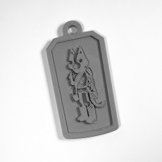 Picture of print of Final Space AvoCATO keychain