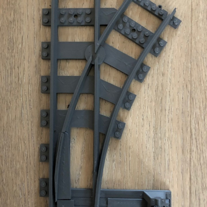 3D Printable train track switch by by ctrl design