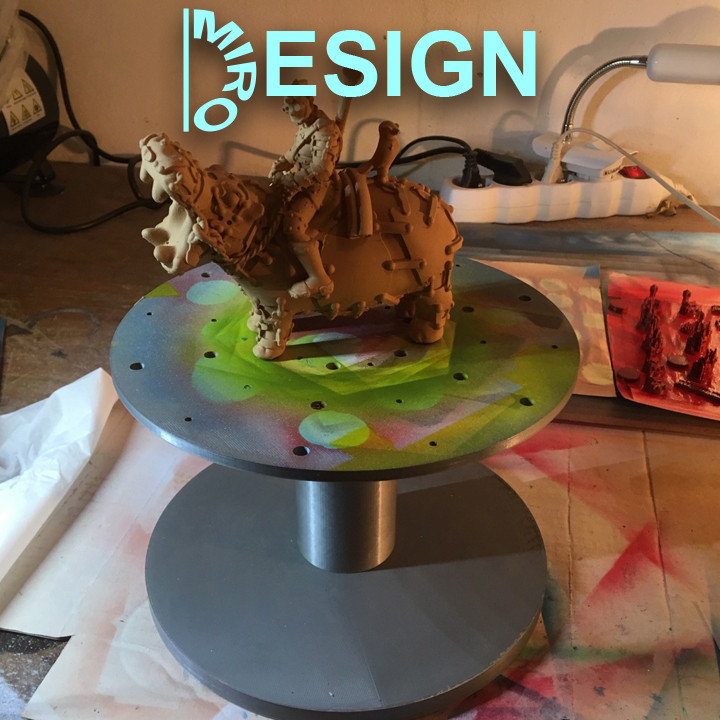 Airbrush model stand