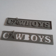 Picture of print of Cowboys Banner Logo
