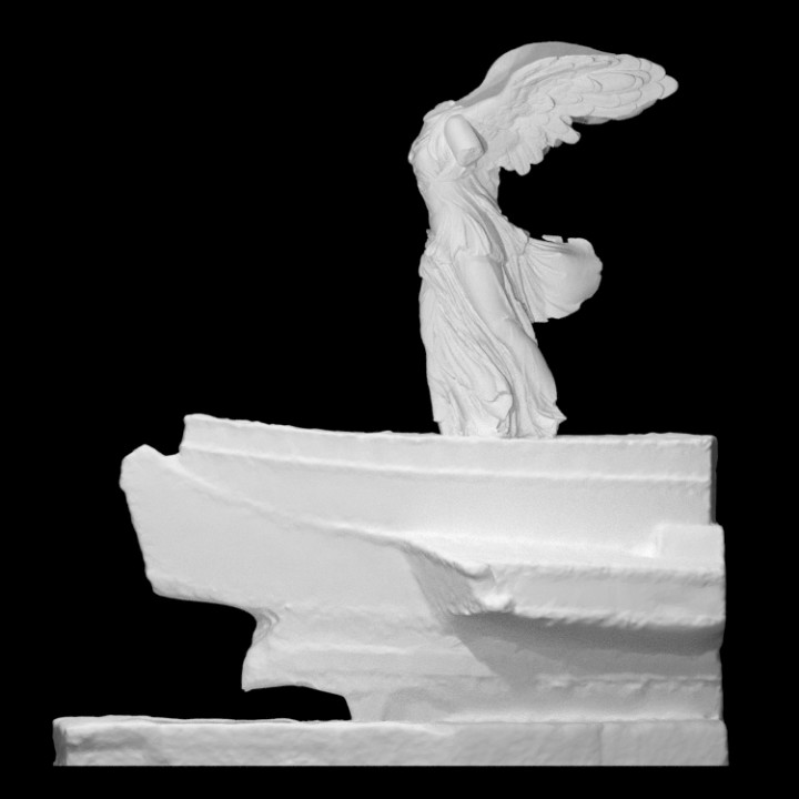 Nike of Samothrace with the prow pedestal