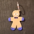Gingerbread man keychain image