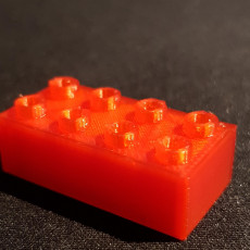 Picture of print of Lego bricks