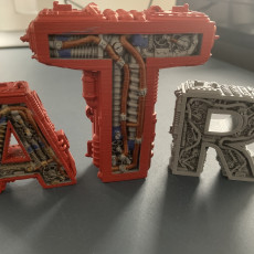 Picture of print of LETTER A STEAMPUNK, LETTER A