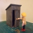 Playmobil Compatible Outhouse/outdoor toilet image