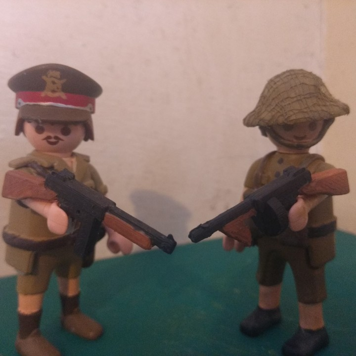 Playmobil Compatible Tommy guns (revised)