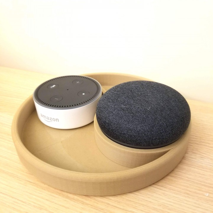 Yin & Yang Echo Dot and Google home holder