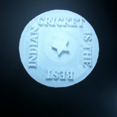 Picture of print of Indian cricket logo
