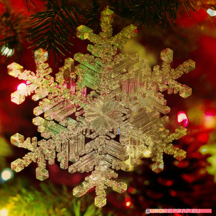 Real snowflake - Christmas Tree decoration - size: 128mm