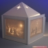 Christmas lantern with lithopanes - (for electric light sources) image