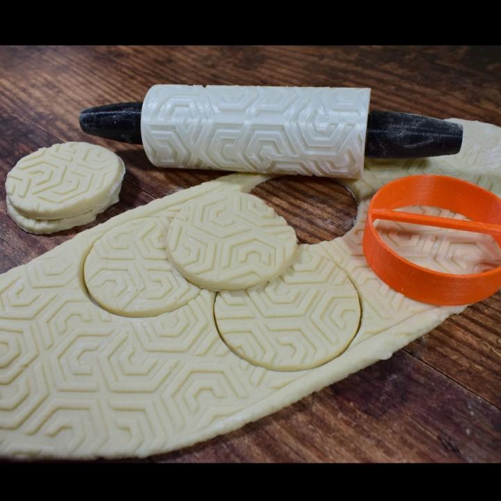 Cookie Pattern Roller Geometry Design 02