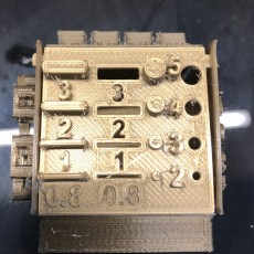 Picture of print of Folding Box Printer Calibration Cube