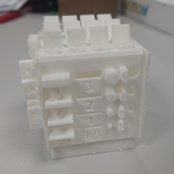 Folding Box Printer Calibration Cube