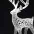 Giant Deer Voronoi print image