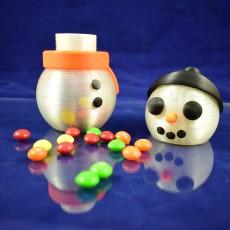 Snowman Jar