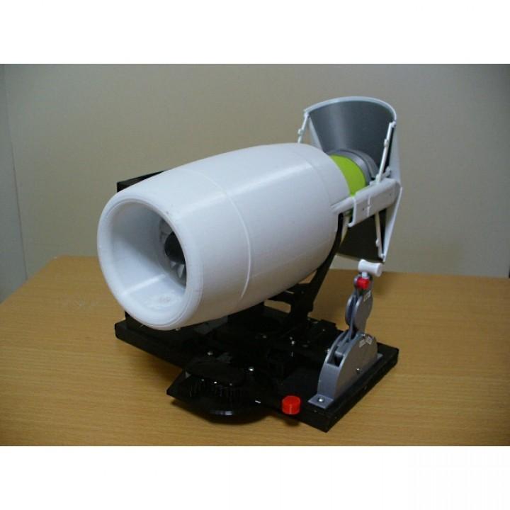Thrust Reverser for Business Turbofan, Bucket Type