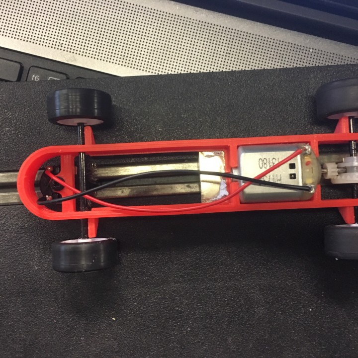 Slot car scalextric chassis