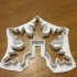 Duble snow cookies cutter image