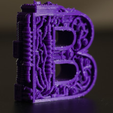 Picture of print of steampunk letter B