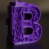 steampunk letter B print image