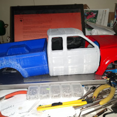 Picture of print of MyRCCar 1/10 MTC Chassis Updated. Customizable chassis for Monster Truck, Crawler or Scale RC Car