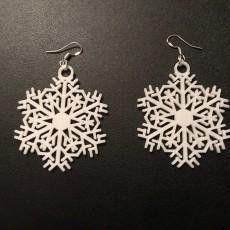 Snowflake earrings or christmas tree decorations