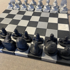 Picture of print of Starwars Chess Battle