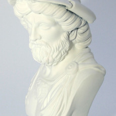 Picture of print of Monumental bust of a warrior