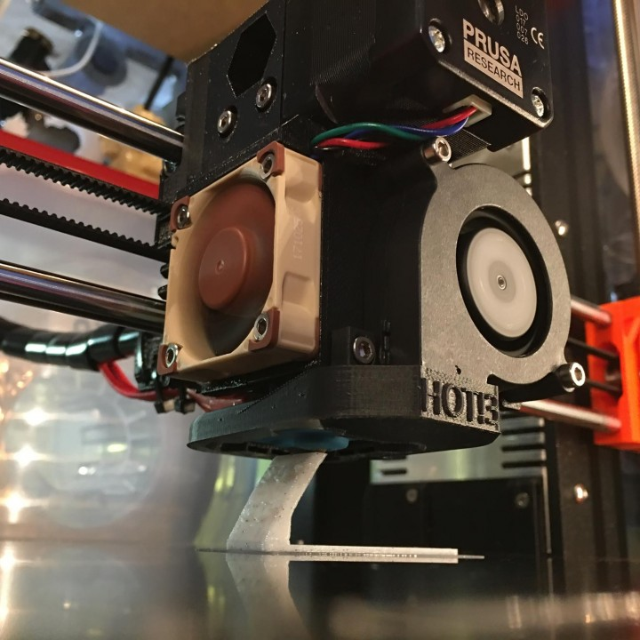 3D Printable Prusa i3 MK3 360 Degree Fan Duct by David Naoum