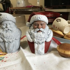 Picture of print of Santa Bust