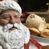 Santa Bust print image