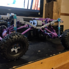 Picture of print of MyRCCar 1/10 MTC Chassis Rigid Axles Version. Customizable chassis for Monster, Crawler or Scale RC Car