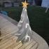 Christmas star tree print image