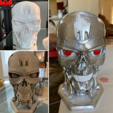 Picture of print of Terminator T800 Bust