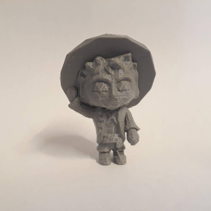 MONKEY D LUFFY LowpolyPOP - by Objoy Creation