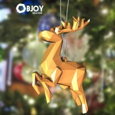 SANTA CLAUS'S REINDEER Lowpoly - by Objoy Creation