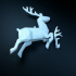 SANTA CLAUS'S REINDEER Lowpoly - by Objoy Creation print image