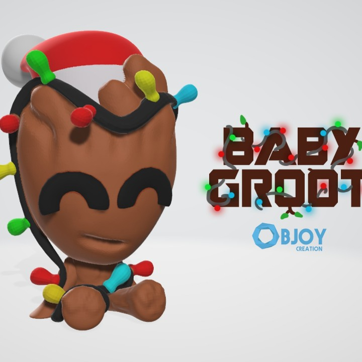 Christmas Baby Groot - by Objoy Creation