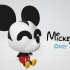 Mickey Mouse Figure & Keychain - by Objoy Creation image