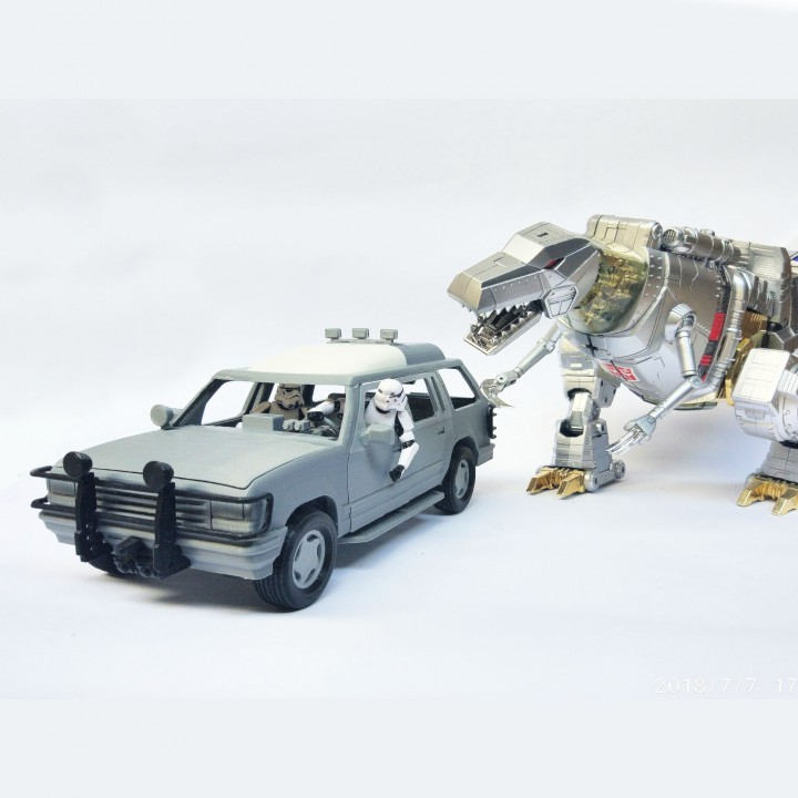 1:18 JURASSIC PARK CAR FOR 3.75 INCH FIGURE NO SUPPORT