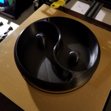 Picture of print of improved Yin & Yang nut and candy bowl