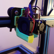 cr10s v6 and volcano clone adjustable 4010 fan mount
