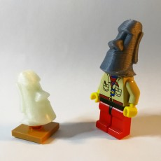 Picture of print of Moai (Easter Island) LEGO head