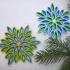 Multicolor snowflake  3d printed quilling primary image