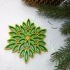 Multicolor snowflake  3d printed quilling image