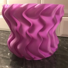 large flower, plant pot easy to print plus a second version