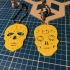 sugar skulls Mr and Mrs, day of the dead, christmas tree decorations, halloween or earrings image