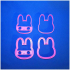 Cookie cutters - Cute Bunny print image
