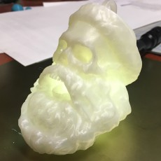 Picture of print of Skull Santa